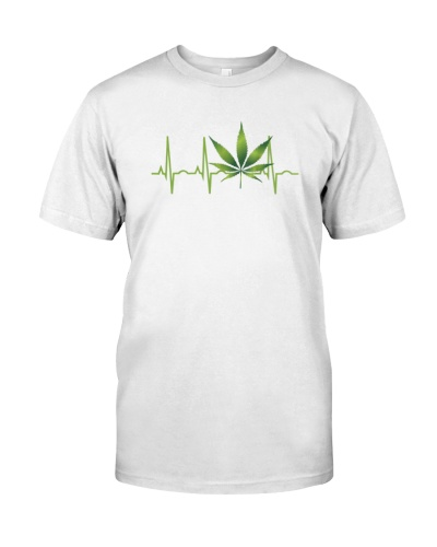 Marijuana Leaf Heartbeat