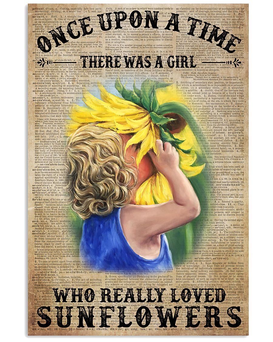Girl really love sunflower 16x24 Poster