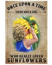 Girl really love sunflower 16x24 Poster front