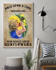 Girl really love sunflower 16x24 Poster lifestyle-poster-1