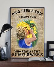 Girl really love sunflower 16x24 Poster lifestyle-poster-2