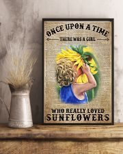 Girl really love sunflower 16x24 Poster lifestyle-poster-3