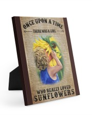 Girl really love sunflower 8x10 Easel-Back Gallery Wrapped Canvas thumbnail