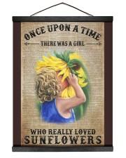 Girl really love sunflower 16x20 Black Hanging Canvas thumbnail