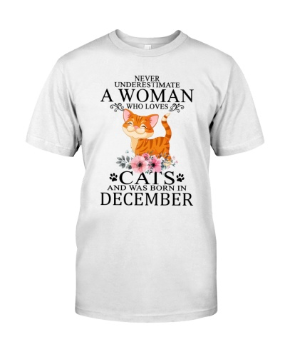 Never Underestimate A Woman Loves Cats December