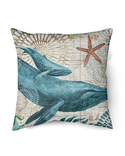 Letibee Whale Nautical Pillow