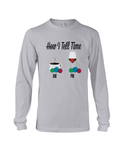 Tell time coffee wine knitting