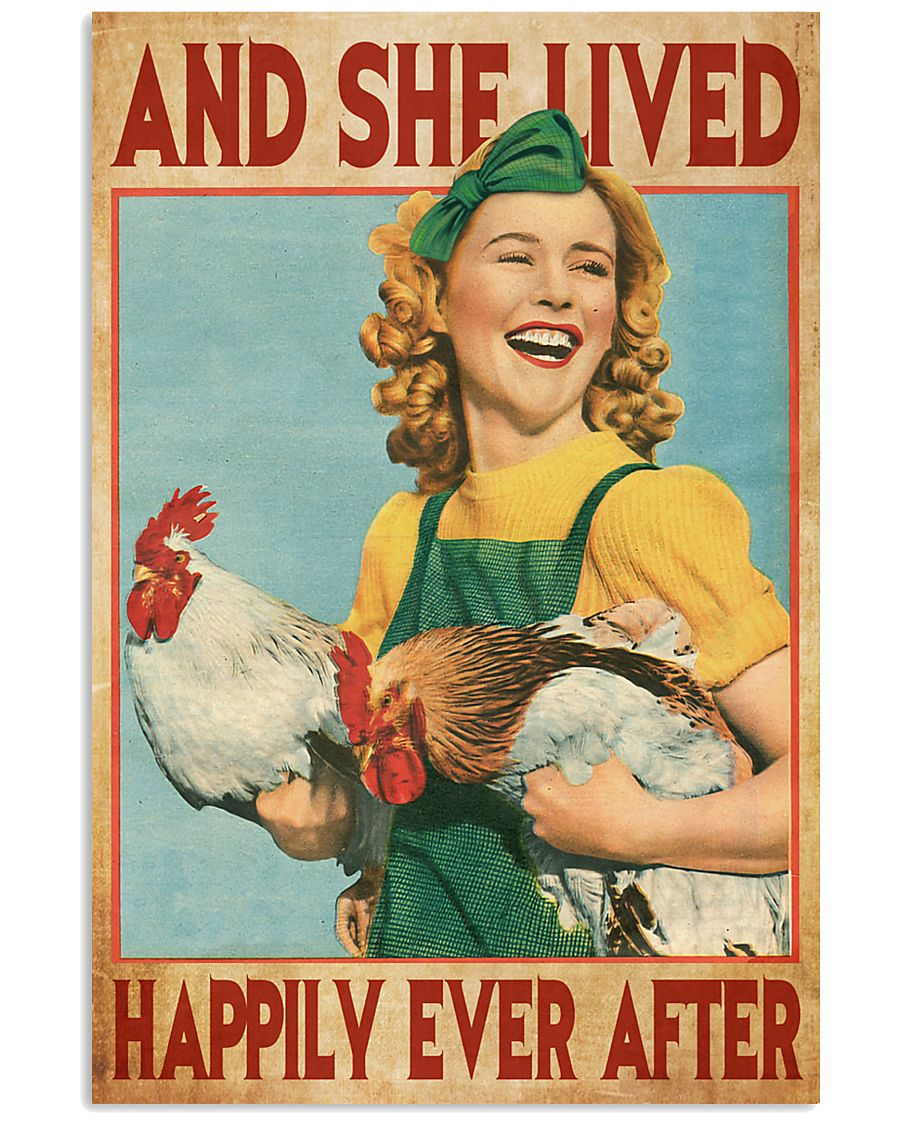 And She Lived Happily Ever After Farm Girl 11x17 Poster