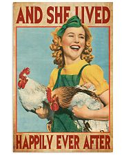 And She Lived Happily Ever After Farm Girl 11x17 Poster front