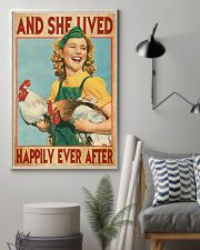 And She Lived Happily Ever After Farm Girl 11x17 Poster lifestyle-poster-1