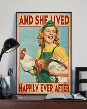 And She Lived Happily Ever After Farm Girl 11x17 Poster lifestyle-poster-2