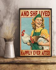 And She Lived Happily Ever After Farm Girl 11x17 Poster lifestyle-poster-3
