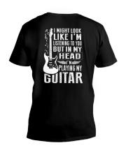 I'm Playing My Guitar V-Neck T-Shirt thumbnail