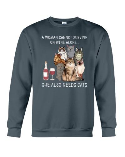 LETIBEE Woman Wine Cats