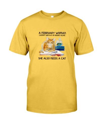February Woman Cat Book