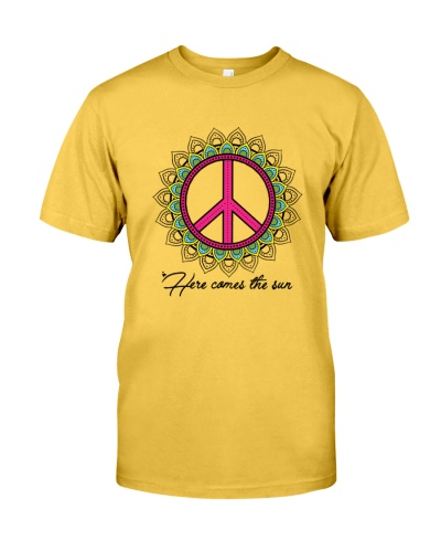 Here comes the sun hippie peace