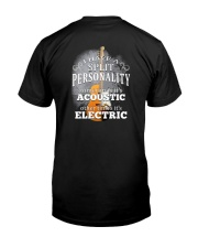 Split Personality Guitar Classic T-Shirt back
