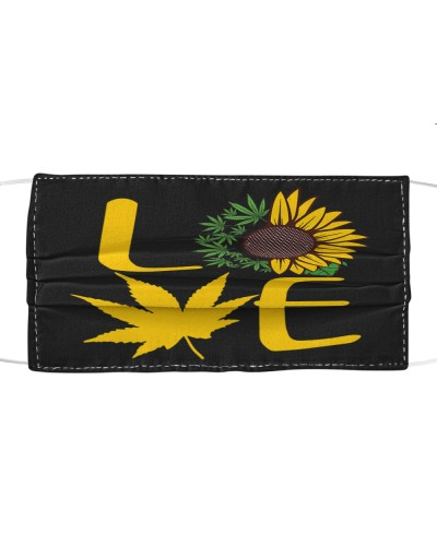Love sunflower ganja leaf