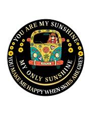 You Are My Sunshine Circle Coaster thumbnail