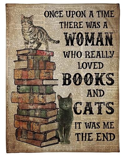 Book Cat Blanket