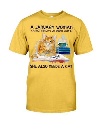 January Woman Cat Book