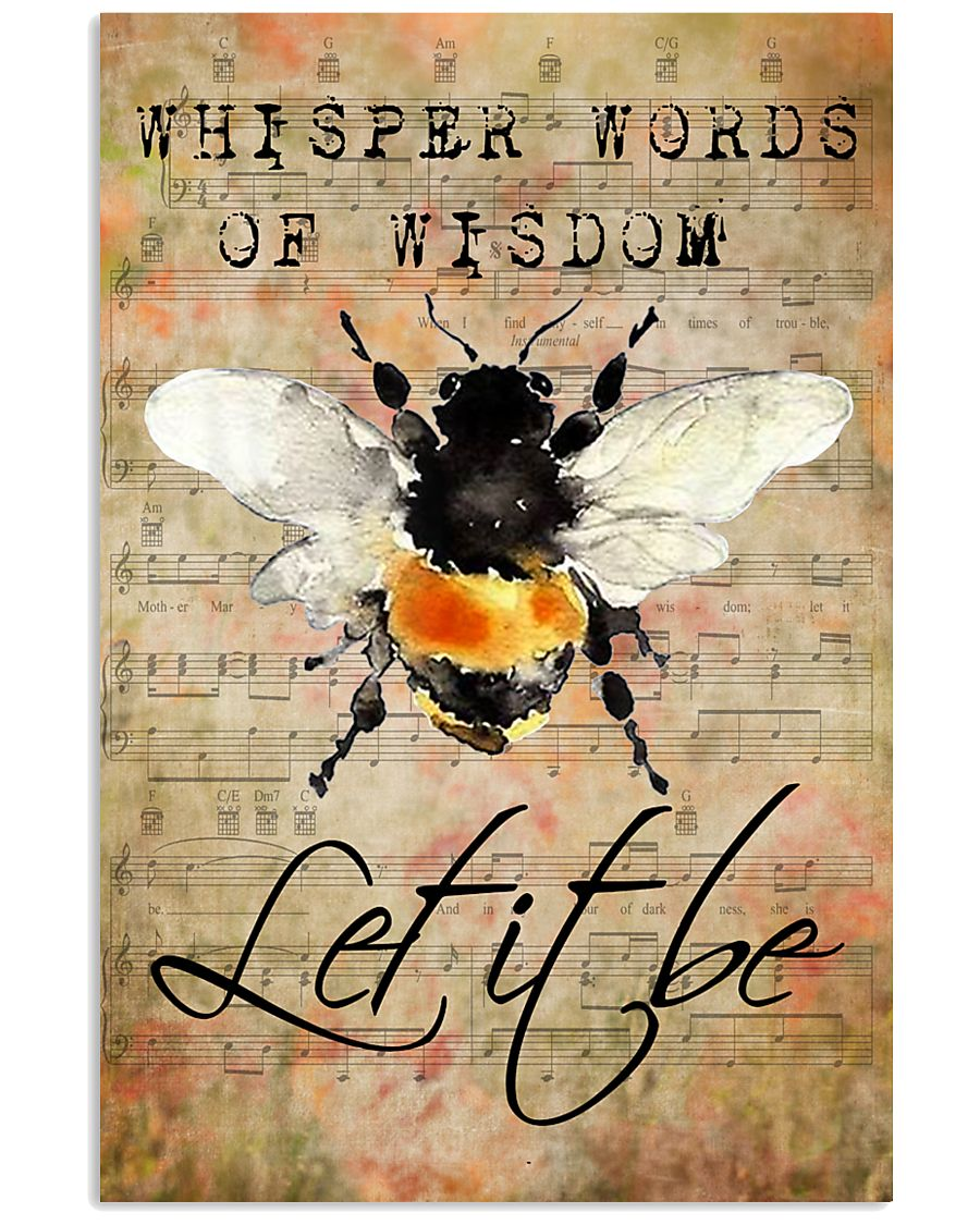 Let It Bee Peace Sheet Music 11x17 Poster