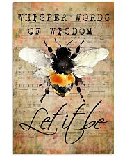 Let It Bee Peace Sheet Music 11x17 Poster front