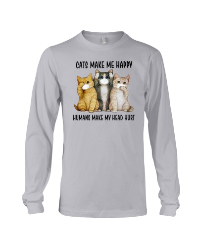 Cats Make me happy Mask