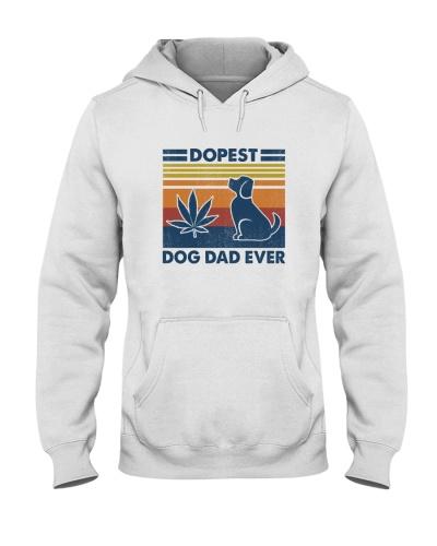Funny Dopest dog dad retro