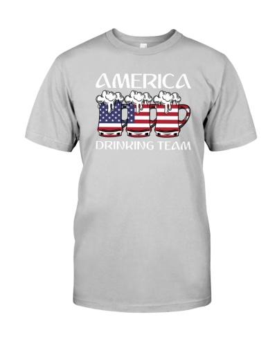 America Drinking Beer Team Flag