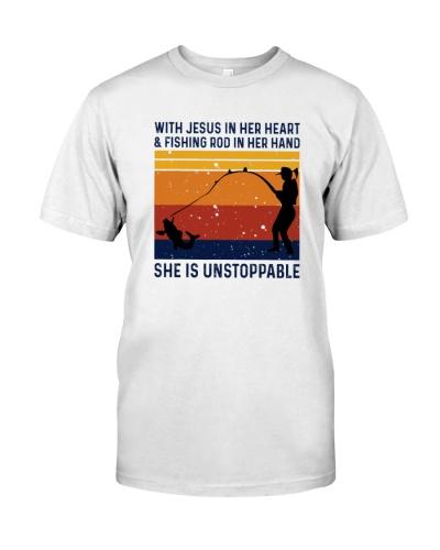 Unstoppable Jesus fishing girl