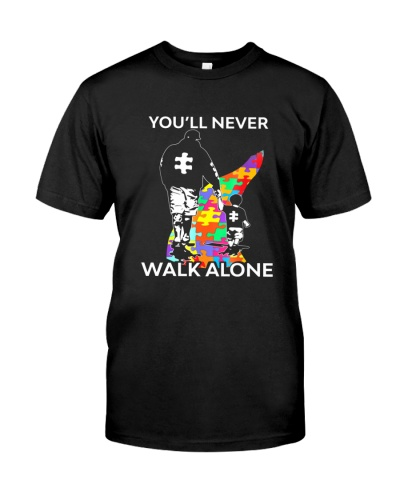 Autism Dad Son Never Walk Alone