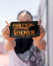 Weiner Dog Cloth face mask aos-face-mask-lifestyle-07