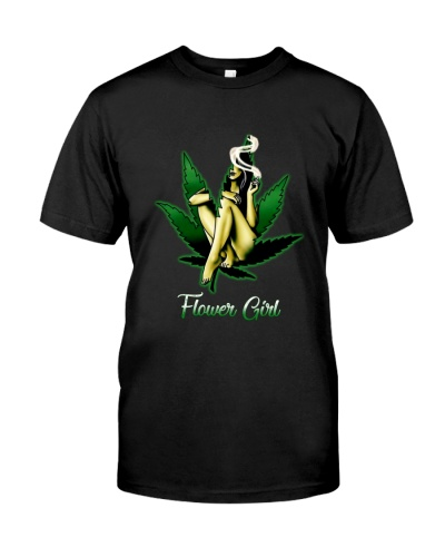 Flower girl weed smoker