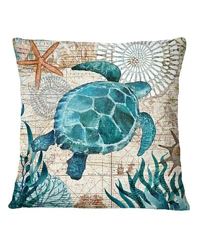 Letibee Turtle Nautical Pillow