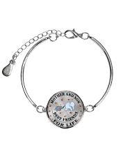 Mother and Son Best Friends For Life Metallic Circle Bracelet front
