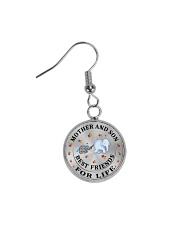 Mother and Son Best Friends For Life Circle Earrings thumbnail