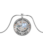 Mother and Son Best Friends For Life Metallic Circle Necklace thumbnail