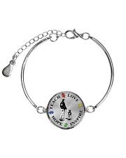 Teach Love Hope Inspire Metallic Circle Bracelet thumbnail