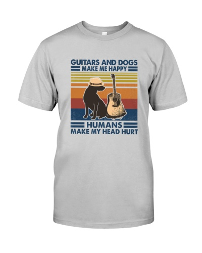 Guitar and dog make me happy