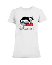 CAT and BOOK - BEST GIFT Premium Fit Ladies Tee thumbnail