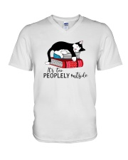 CAT and BOOK - BEST GIFT V-Neck T-Shirt thumbnail