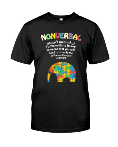 Nonverball Doesn't Mean That AUTISM