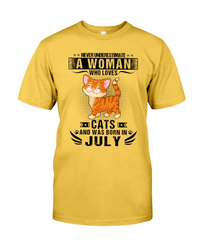 Never Underestimate A Woman Who Loves Cats July