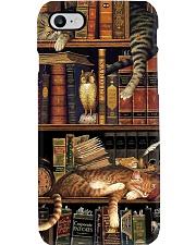 Cat Book Bookshelf Phone Case thumbnail