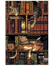 Cat Book Bookshelf 11x17 Poster front