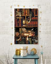 Cat Book Bookshelf 11x17 Poster lifestyle-holiday-poster-3