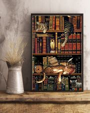 Cat Book Bookshelf 11x17 Poster lifestyle-poster-3