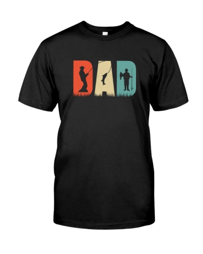 Fishing Dad Retro Style