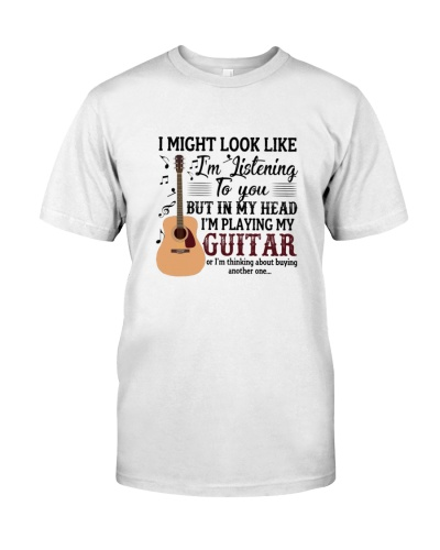 In my head I'm playing my guitar